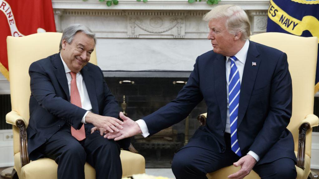 Guedes y Trump en el encuentro de este viernes en la Casa Blanca