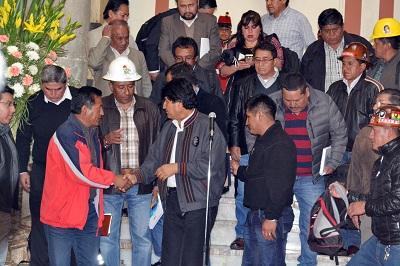 Morales y Mitma se reunieron en Palacio durante varias horas