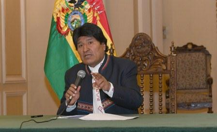 Morales anunció cinco programas esta mañana en Palacio de Gobierno